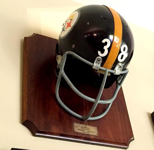 Bradley's Steeler Helmet