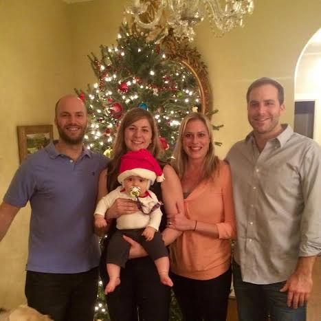 The King family with Katie's son, Sam, during Christmas in 2015