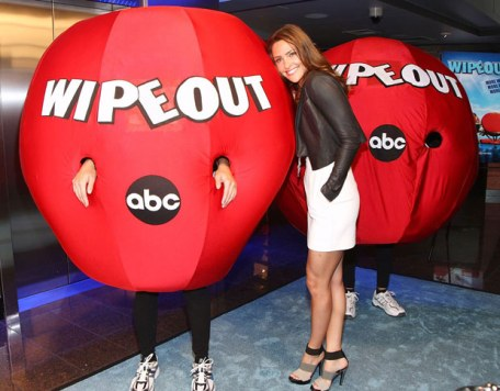Jill as host of Wipeout
